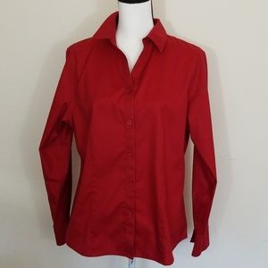 Chico's Red Blouse,  Size: Large